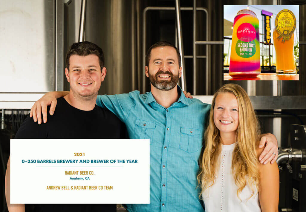 radiant beer co great american beer festival 2021 brewery of the year andrew bell jonas nemura cambria griffith